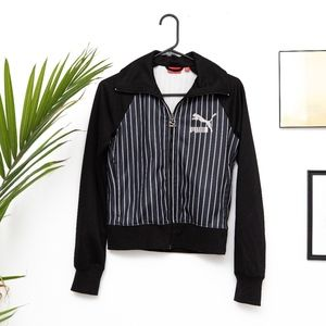 Puma Striped Logo Track Jacket - XS